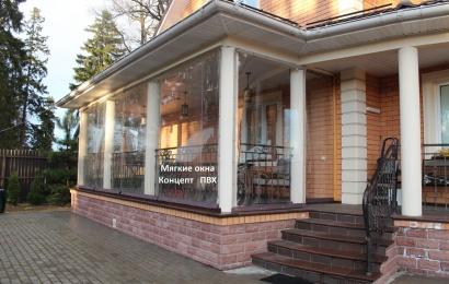 Раздвижные шторы для веранд из полиуретана | http://conceptpvc.ru