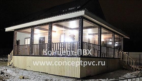 Проект №77 Мягкие окна для веранды г. Серпухов