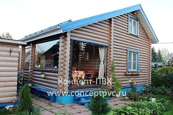 Мягкие окна для летней кухни загородного дома в г. Кубинка.