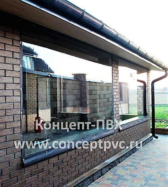 Мягкие окна для закрытой террасы в г. Троицк