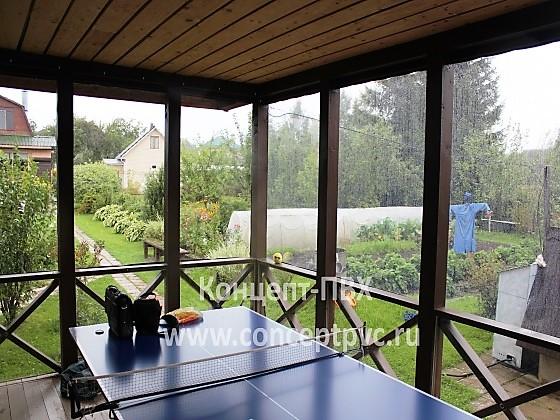 Проект №30 Мягкие окна для беседки г. Рига