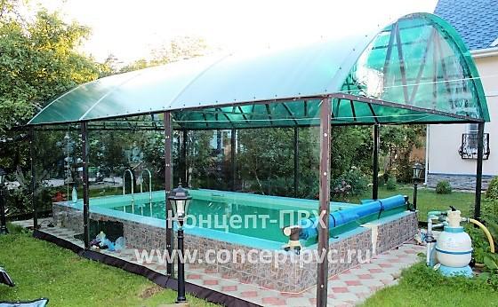 Проект №7 Мягкие окна для бассейна в г. Одинцово
