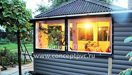 Проект № 120 Мягкие окна для беседки на Рублевском шоссе