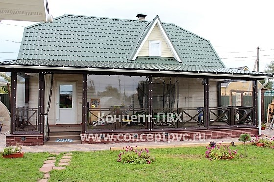 Проект № 35 Мягкие окна для веранды в г. Волоколамск