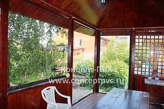 Проект № 37 Мягкие окна для беседки в г. Звенигород