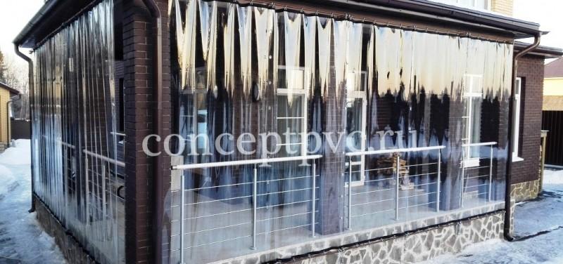 Раздвижные прозрачные шторы для веранды