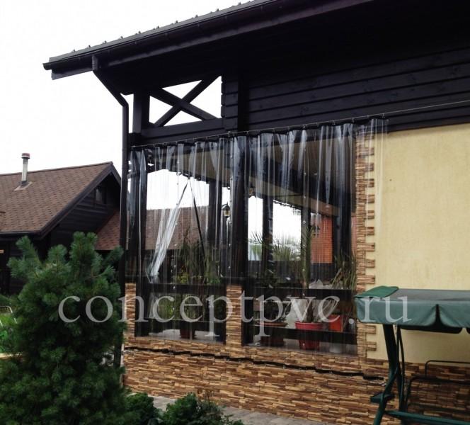 Защитные шторы для веранды позволят Вам чувствовать себя уютно и в мокрый снег и в дождь и даже когда дует сильный ветер